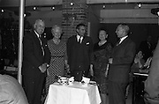 06/04/1963<br /> 04/06/1963<br /> 06 April 1963<br /> Staff presentations to Mr. John D. Ware, departing General Manager of W.D. & H.O. Wills Ireland. Senior staff made presentations of gifts to Mr. Ware at a party at the Zoo, Dublin. Mr. Ware was about to go to Bristol to take up the job of Assistant to W.S.J. Carter who was succeeding to the post of Managing Director of the Firm. Mr. Ware in centre.