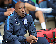 Chris Ramsey manager of Queens Park Rangers during the Sky Bet Championship match at the John Smiths Stadium, Huddersfield<br /> Picture by Graham Crowther/Focus Images Ltd +44 7763 140036<br /> 29/08/2015