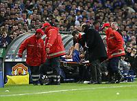 20090415: PORTO, PORTUGAL - FC Porto vs Manchester United: Champions League 2008/2009 – Quarter Finals – 2nd leg. In picture: Lucho Gonzalez injured. PHOTO: Manuel Azevedo/CITYFILES