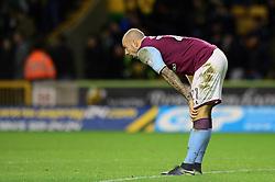 Alan Hutton of Aston Villa cuts a dejected figure - Mandatory by-line: Dougie Allward/JMP - 14/01/2017 - FOOTBALL - Molineux - Wolverhampton, England - Wolverhampton Wanderers v Aston Villa - Sky Bet Championship