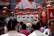 Entrance to a traditional market place in the center of Beijing. Beijing is the capital of the People's Republic of China and one of the most populous cities in the world with a population of 19,612,368 as of 2010.