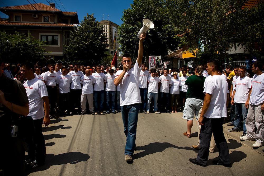 """Vetvendosje (""""Self-Determination"""" in Albanian) protest.<br /> <br /> Pristina, Kosovo, Serbia"""