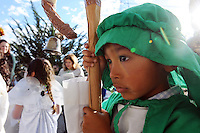 """In a pre-Christmas tradition which began in 1957, the Jimenez family of Castroville put on their annual """"posada,"""" with friends, family and guests celebrating the holiday season together. Posada"""" means """"inn"""" in Spanish, and for this occasion, children dressed as Biblical figures reenacted Mary and Joseph's search for shelter during their Biblical journey from Nazareth to Bethlehem. Moving from house to house, the """"peregrinos,"""" or pilgrims, trade touching verses in song with the """"hosteleros,"""" the innkeepers, inside, until at last, shelter is found."""