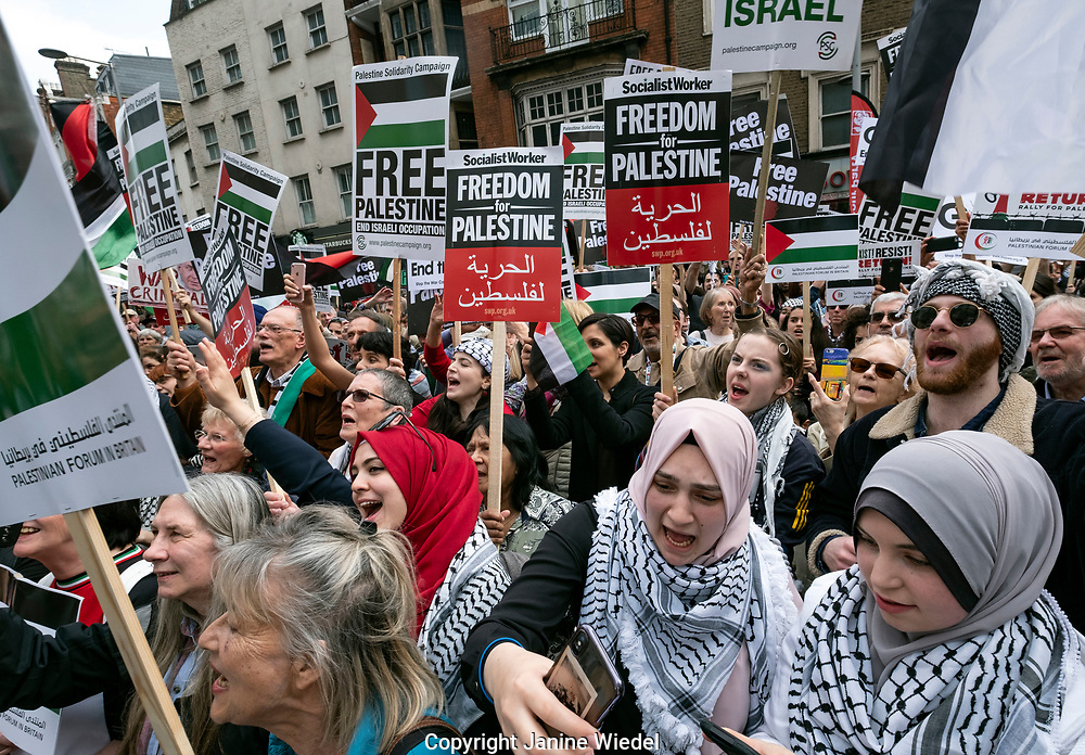 Rally for Palestine outside the Israeli Embassy: Exist,Resist, Return. A global call for solidarity on the 1st anniversary of the start of the Great Return March.