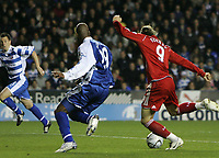 Photo: Lee Earle.<br /> Reading v Liverpool. Carling Cup. 25/09/2007. Fernando Torres (R) scores Liverpool's second.