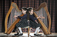 JP License<br /> <br /> Edinburgh International Harp Festival 1-6th April 2016.<br /> <br />  Clara and Brigitte Harrigan Lees.<br /> Age 9.<br /> Started learning harp at age 6.<br /> Study harp with Helen MacLeod at St Mary's Music School, where they are choristers.<br /> This is their 3rd year at the EIHF.<br /> They are participating in one of the harp courses and will attend various concerts at the festival.<br /> <br />  Neil Hanna Photography<br /> www.neilhannaphotography.co.uk<br /> 07702 246823