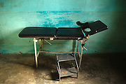 Examination bed at the Kassaro community health center in the village of Kassaro, Mali on Saturday August 28, 2010.