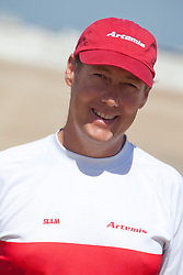 Nick Moloney. Official Practice day, 20th of February. Extreme Sailing Series, Act 1, Muscat, Oman (20 - 24 Februari 2011)  Sander van der Borch / Artemis Racing