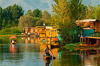 Dal Lake, Srinagar, Kashmir, Jammu and Kashmir State; India.