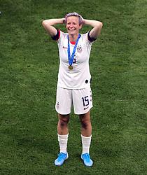 USA's Megan Rapinoe celebrates after winning the FIFA Women's World Cup 2019 Final at the Stade de Lyon, Lyon, France.