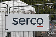 A sign indicates the location of the Montem Lane COVID-19 walk-in testing centre run by Serco on behalf of the Department of Health and Social Care on 4 October 2020 in Slough, United Kingdom. Slough Borough Council confirmed on 2nd October that its coronavirus infection rate is the highest in the south of England and Slough MP Tan Dhesi asked Health Secretary Matt Hancock in Parliament whether the Montem Lane test centre could be reverted to permit walk-in and drive-in visits without an appointment.