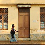 The buildings in the sleepy city of São Tomé