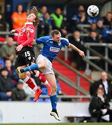 Bristol City's Luke Freeman flicks on a header  - Photo mandatory by-line: Matt McNulty/JMP - Mobile: 07966 386802 - 03/04/2015 - SPORT - Football - Oldham - Boundary Park - Oldham Athletic v Bristol City - Sky Bet League One