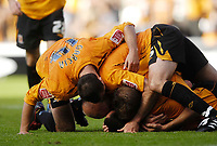 Photo: Jed Wee/Sportsbeat Images.<br /> Hull City v Norwich City. Coca Cola Championship. 25/08/2007.<br /> <br /> Hull celebrate at the final whistle.