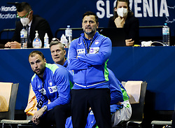 Uros Zorman, assistant coach of Slovenia and Ljubomir Vranjes, head coach of Slovenia during handball match between National Teams of Germany and Slovenia at Day 2 of IHF Men's Tokyo Olympic  Qualification tournament, on March 13, 2021 in Max-Schmeling-Halle, Berlin, Germany. Photo by Vid Ponikvar / Sportida