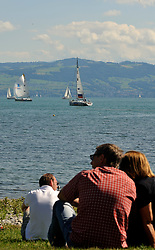 Watching Match Race Germany in Langenargen. Photo:Chris Davies/WMRT