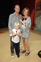 The HON.JUSTIN PORTMAN, his wife NATALIA VODIANOVA and their son LUCAS PORTMAN at a children's ballet workshop and tea party to celebrate the world premiere of 'Angelina's Star Performance' Angelina Ballerina's first real life ballet hosted by the National Ballet at the New Wimbledon Theatre, London SW19 on 6th September 2007.<br /><br />NON EXCLUSIVE - WORLD RIGHTS