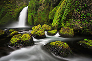 Columbia River Gorge's Wahclella Falls, Oregon.