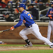 Michael Conforto, New York Mets, batting during the MLB NLCS Playoffs game two, Chicago Cubs vs New York Mets at Citi Field, Queens, New York. USA. 18th October 2015. Photo Tim Clayton