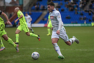 Liam Ridehalgh (Tranmere Rovers) during the Vanarama National League match between Tranmere Rovers and Southport at Prenton Park, Birkenhead, England on 6 February 2016. Photo by Mark P Doherty.