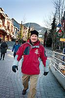 Ken Melamed, mayor of Whistler, BC, Canada, portrait outside in Whistler, BC