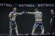 Kampfsport: MMA, We love MMA, Oberhausen, 31.01.2015<br /> Christian Skorzik (JKD Akademie NRW, l.) - Daniel Duecker (Fight Center Siegen)<br /> © Torsten Helmke
