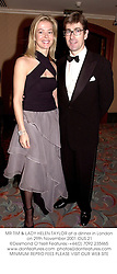 MR TIM & LADY HELEN TAYLOR at a dinner in London on 29th November 2001.OUS 21