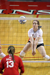 15 SEP 2009: Laura Wakefield settles in for a dig. The Redbirds of Illinois State defeated the Cougars of Southern Illinois Edwardsville in 3 sets during play in the Redbird Classic on Doug Collins Court inside Redbird Arena in Normal Illinois