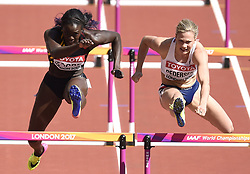 August 11, 2017 - Londres, Angleterre - LONDON , UNITED KINGDOM  - AUGUST 11 : Anne Zagre of Belgium pictured during 100 M hurdles heat 1 at the16th IAAF World Athletics championships from august 4 till 13, 2017 in London ,United Kingdom, 09/08/2017 (Credit Image: © Panoramic via ZUMA Press)