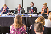 Patrick Roach, NASUWT speaking at a fringe event at the TUC congress 2016, Brighton. UK.