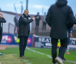 Montrose manager Stewart Petrie. Arbroath 2 v 0 Montrose, Scottish Football League Division One played 10/11/2018 at Arbroath's home ground, Gayfield Park.