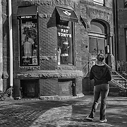 We were taking an early morning walk along Newbury Street in Boston.  Something about the scene just caught my attention.