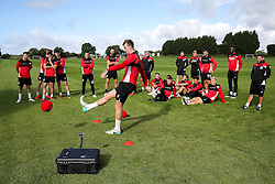Aden Flint in action as Bristol City play Football Darts from Bristol Bubble Ball Ltd after training - Rogan Thomson/JMP - 30/09/2016 - FOOTBALL - Failand Training Ground - Bristol, England.