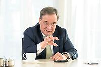 27 NOV 2020, BERLIN/GERMANY:<br /> Armin Laschet, CDU, Ministerpraesident Nordrhein-Westfalen, waehrend einem Interview, Landesvertretung Nordrhein-Westfalen<br /> IMAGE: 20201127-01-008