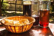 Croatian liqueur and bread, Krka National Park, Dalmatia, Croatia