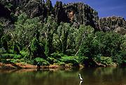 Spectacular formations of Windjana Gorge Nat. Park, Lennard River