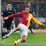 Galatasaray's Lucas NEILL during their Turkish Super League soccer match Galatasaray between Bucaspor at the Turk Telekom Arena at Seyrantepe in Istanbul Turkey on Saturday 19 February 2011. Photo by TURKPIX