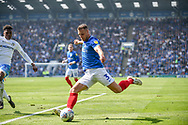 Portsmouth Defender, Lee Brown (3) during the EFL Sky Bet League 1 match between Portsmouth and Coventry City at Fratton Park, Portsmouth, England on 22 April 2019.