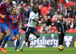 05 November 2017 Wembley : Premier League Football : Tottenham Hotspur v Crystal Palace : Andros Townsend of Palace pulls the shorts of Moussa Sissoko of Tottenham.<br /> <br /> Photo: Mark Leech.