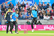 Pat Brown of Worchestershire bowling during the final of the Vitality T20 Finals Day 2018 match between Worcestershire Rapids and Sussex Sharks at Edgbaston, Birmingham, United Kingdom on 15 September 2018.