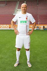08.07.2015, WWK Arena, Augsburg, GER, 1. FBL, FC Augsburg, Fototermin, im Bild Tobias Werner #13 (FC Augsburg)<br />, Media Day, FC Augsburg, 08.07.2015, Foto: Eibner // during the official Team and Portrait Photoshoot of German Bundesliga Club FC Augsburg at the WWK Arena in Augsburg, Germany on 2015/07/08. EXPA Pictures © 2015, PhotoCredit: EXPA/ Eibner-Pressefoto/ Kolbert<br /> <br /> *****ATTENTION - OUT of GER*****