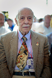 06 June 2014. The National WWII Museum, New Orleans, Lousiana. <br /> WWII veteran T5 Eugene Lussan, 473rd Infantry is honored with the French Legion of Honor medal.<br /> Photo; Charlie Varley/varleypix.com
