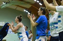 Slovenian basketball players during friendly basketball match between Women teams of Slovenia and Czech Republic before EuroBasket Serbia 2019, on May 31st, 2019 in Arena Tri Lilije, Lasko, Slovenia. Photo by Milos Vujinovic / Sportida