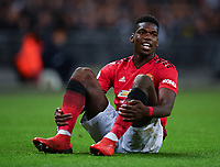Football - 2018 / 2019 Premier League - Tottenham Hotspur vs. Manchester United<br /> <br /> Manchester United's Paul Pogba takes a rest, at Wembley Stadium.<br /> <br /> COLORSPORT/ASHLEY WESTERN