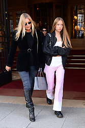 Kate Moss and daughter Lila Grace leave then Ritz hotel and go shopping. Paris, January 18th Photo by Abacapress.com