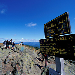 Hiking.  Mt. Moosilauke. Appalachian Trail.  White Mountain N.F., NH