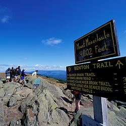 Hiking.  Mt. Moosilauke. Appalachian Trail.  White Mountain N.F., NH