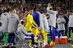 May 15, 2019 - Foxborough, MA, U.S. - FOXBOROUGH, MA - MAY 15: Chelsea FC midfielder Ross Barkley (8) leads cheers on the subs bench during the Final Whistle on Hate match between the New England Revolution and Chelsea Football Club on May 15, 2019, at Gillette Stadium in Foxborough, Massachusetts. (Photo by Fred Kfoury III/Icon Sportswire) (Credit Image: © Fred Kfoury Iii/Icon SMI via ZUMA Press)