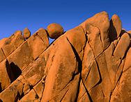CADJT_124 - USA, California, Joshua Tree National Park, Distinctive monzonite granite boulders at sunset, near Jumbo Rocks.