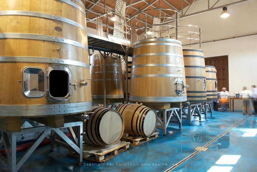 wooden vats Bodegas Margon , DO Tierra de Leon , Pajares de los Oteros spain castile and leon